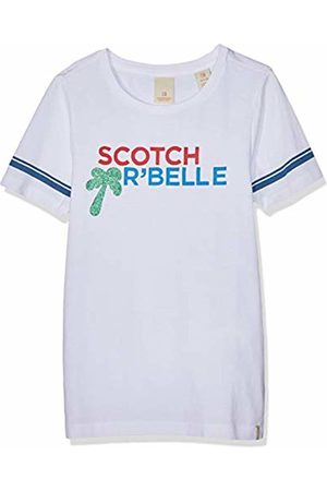 Scotch&Soda R´Belle Girl's Regular Fit Short Sleeve Tee with Placed Artworks Sports Tank Top, ( 006)