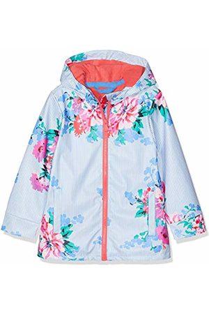 Joules Girl's Raindance Coat, (Sky Stripe Floral Skblflrstr)