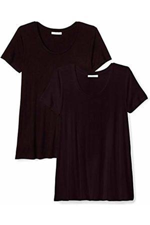 Daily Ritual Jersey Short-Sleeve Scoop Neck Swing T-Shirt Chemise, Noir BLKBLK), US M (EU M - L) M (EU M-L)