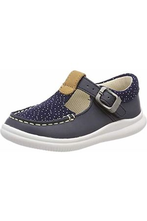 Clarks Girls' Cloud Rosa T Low-Top Sneakers (Navy Leather -) 6.5 UK