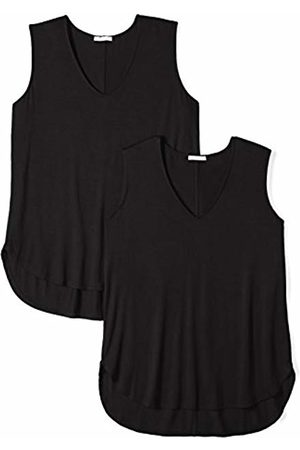 Daily Ritual Women's Plus Size Jersey V-Neck Tank Top, 2-Pack