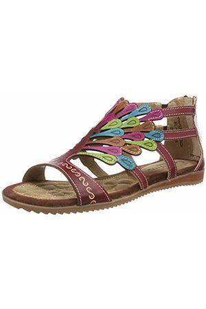LAURA VITA Women's Vaccao Gladiator Sandals, Rouge