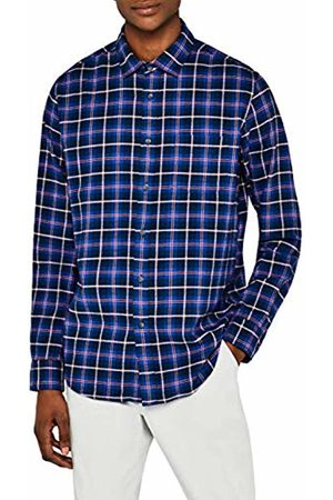 MERAKI Men's Regular Fit Flannel Shirt
