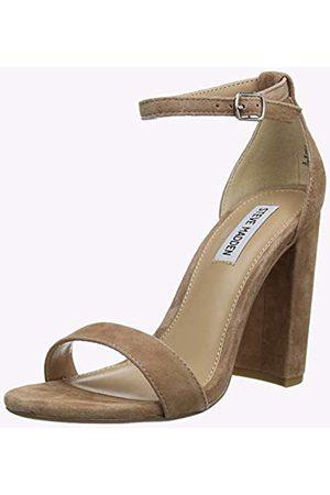 Steve Madden Women's Carrson Ankle Strap Sandals (Tan Suede 215) 4 (37 EU)