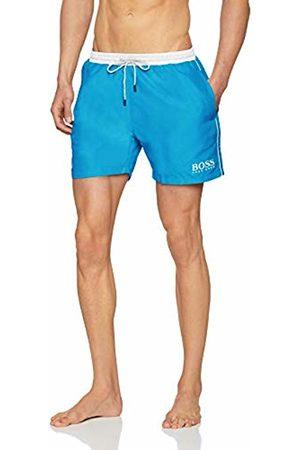 HUGO BOSS Men's Starfish Swim Trunks, (Turquoise/Aqua 441)