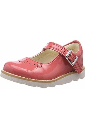 Clarks Girls' Crown Jump T Loafers, (Coral Patent Leather-)