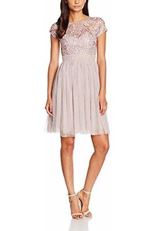 Little Mistress Women's F275c1b Knee-Length Pleated Short Sleeve Dress