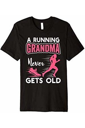 Funny Running Gifts Shirts ThNh Apparel A Running Grandma Never Gets Old Running Runner T-Shirt