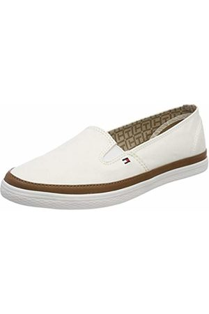 Tommy Hilfiger Women's Iconic Kesha Slip On Low-Top Sneakers, (Whisper 121)