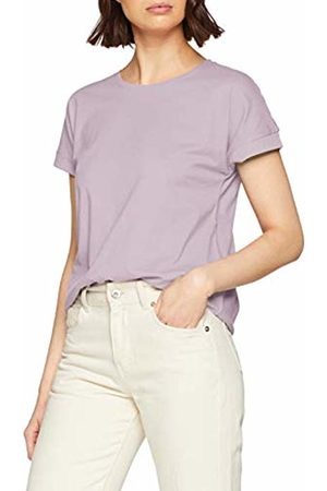 JDY Women's louisa S/s Fold Up Top JRS Noos T-Shirt, Lavender Frost