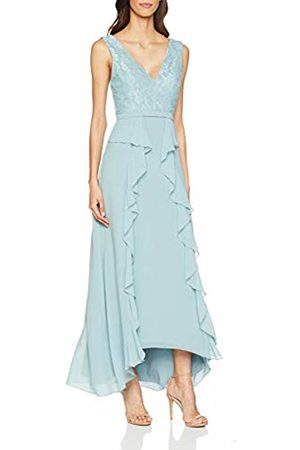 Little Mistress Women's Clarita Plunge Maxi Dress with Lace Glacier