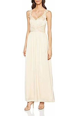 Little Mistress Women's Caitlin Satin Floral Trim Maxi Dress (Size:10)