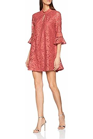 Little Mistress Women's Helene Terracotta Lace Shift Dress Party
