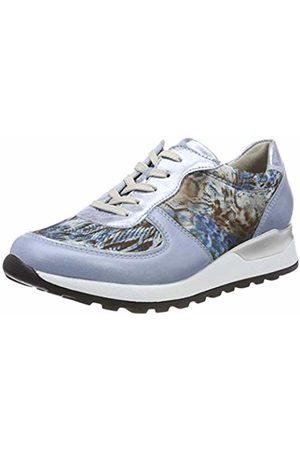Waldläufer Women's Hiroko-Soft Low-Top Sneakers (Memphis Foil Animalstr Sky Notte 267 6.5 UK
