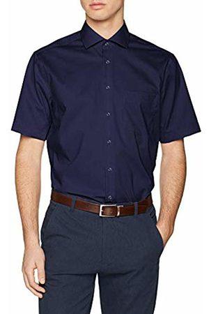 Seidensticker Men's Modern Kurzarm mit Kent Kragen bügelfrei Business Shirt
