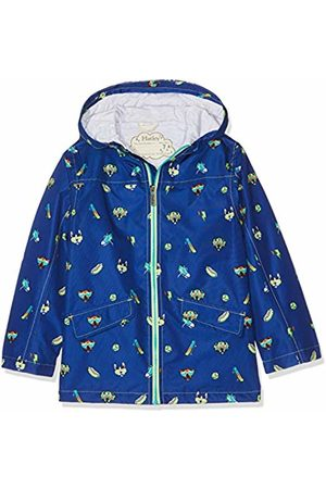 Hatley Boy's Microfiber Rain Jackets Raincoat, (Cool Pups)