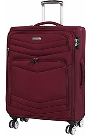 IT Luggage Intrepid 8 Wheel Lightweight Semi Expander Medium with TSA Lock Suitcase, 68 cm