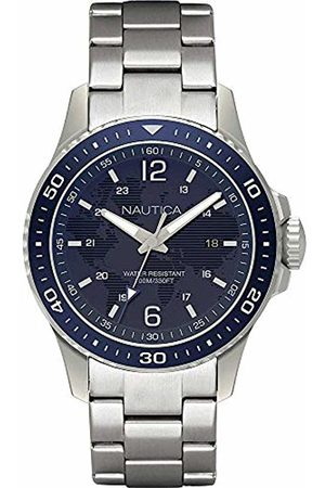 Nautica Mens Analogue Quartz Watch with Stainless Steel Strap NAPFRB008