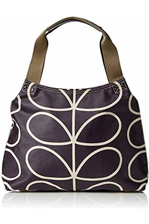 Orla Kiely Women's Matt Laminated Linear Stem Classic Zip Shoulder Handbag)
