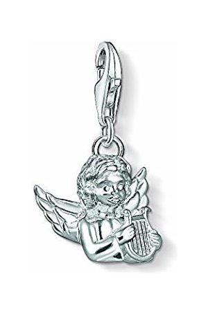 Thomas Sabo Unisex Angel with Lyre 925 Sterling Charm Pendant 1381-001-12