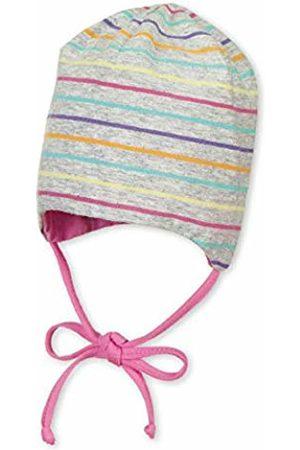 Sterntaler Baby Girls' Beanie Hat, Reversible (Silber 513)