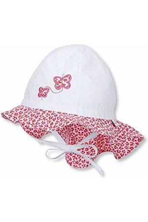 Sterntaler Baby Girls' Sun hat with Neck Protection Sunhat XX-Large (Size:49)