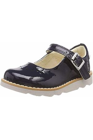 Clarks Girls' Crown Jump T Loafers, (Navy Patent-)