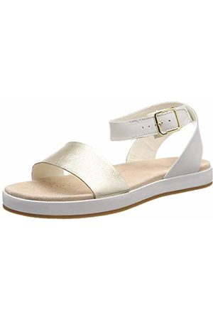 97d34c8c7 Clarks Botanic Ivy Leather Sandals in Cream Standard Fit Size 3½