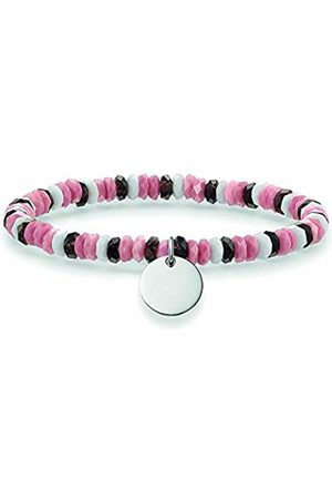 Thomas Sabo Women-Bracelet Love Bridge 925 Sterling grey pink white Length 14.5 cm LBA0026-833-7-L14