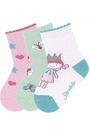 Sterntaler Baby Girls' socks 3-pair pack (Weiss 500))