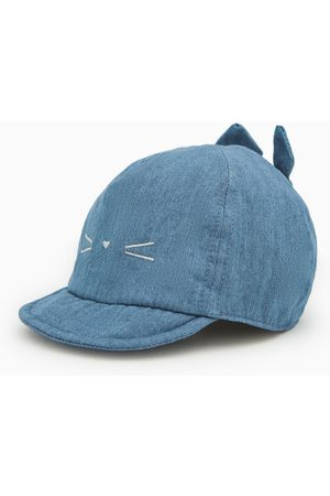 Zara Denim cap with face and ears