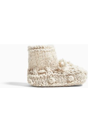 Zara Chunky knit cotton shoes with bow