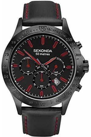 Sekonda Mens Multi dial Quartz Watch with Leather Strap 1652.27