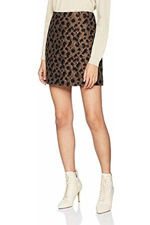 warehouse Women's Animal Jaquard Pelmet Skirt, (Multi)