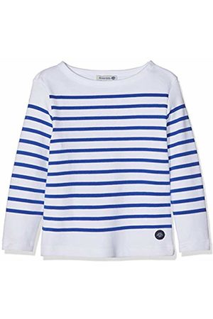 Armor.lux Girl's Marinière \amiral\ Kid Long Sleeve Top, Blanc/Etoile Dw5