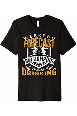 Ski Jumping Sports And Gift Tee Shop Funny Ski Jumping Skiing T-Shirt Winter Sports Gift Men