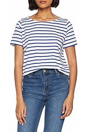 Armor Lux Women's Marinière \hoëdic\ Héritage Femme T-Shirt, Blanc/Etoile Dw5