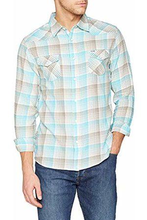 Wrangler Men's Ls Western Shirt Casual (Plume RVP)