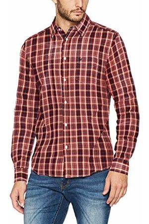 Wrangler Men's Ls 1pkt Shirt Casual (Scarlet Mud)