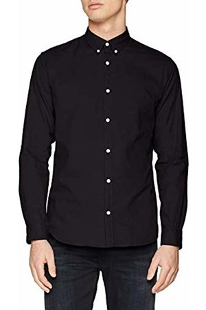 Jack & Jones Premium Men's JPRMIQUEL Shirt L/S Business, Schwarz ( Slim Fit)