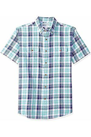 Amazon Essentials Men's Regular-Fit Short-Sleeve Two-Pocket Twill Shirt