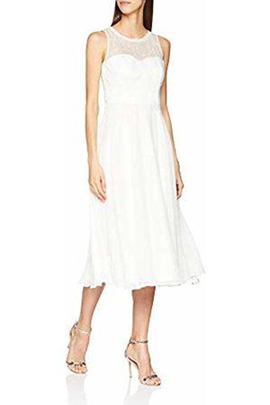Vera Mont Women's 0203/3030 Dress, (Ivory 1040)