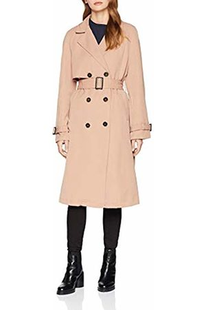 Vero Moda Women's Vmdonna Export Long Jacket Boos Ki Coat, Café Au Lait