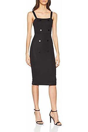 Springfield Women's 5.pa.Corto LISO Tirantes Botones Dress, (Negro 1)