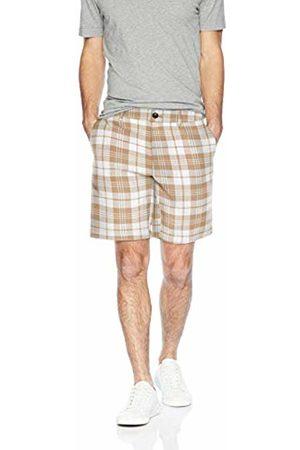 """Amazon Essentials Slim-Fit 9"""" Plaid Short Casual, Khaki"""