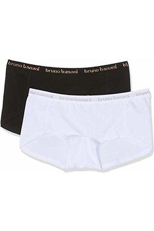 Bruno Banani Women's Panties 2er Pack Flooding Boy Shorts, (weiß/silbergrau // Schwarz/goldfarben 2596)