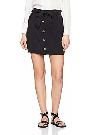 Springfield Women's Frq.Falda Lisa Botones Skirt, (Negro 1)