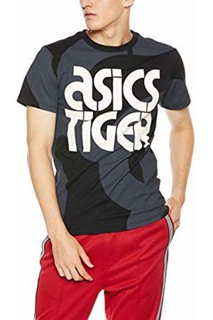 Asics Men's AOP Short Sleeved Tee Casual Shirt, (Performance 001)