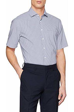 Seidensticker Men's Modern Kurzarm Mit Kent Kragen Bügelfrei Gestreift Formal Shirt