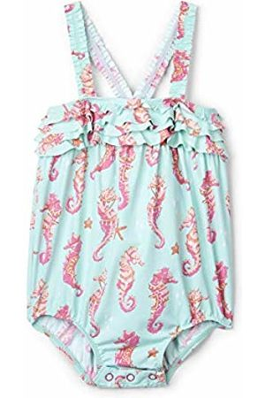 Hatley Baby Girls' Ruffle Swimsuits, (Fantastical Seahorses)